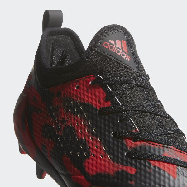 newest a4290 8a5e3 adizero Tagged Cleats Core Black  Cloud White  Power Red DB0622