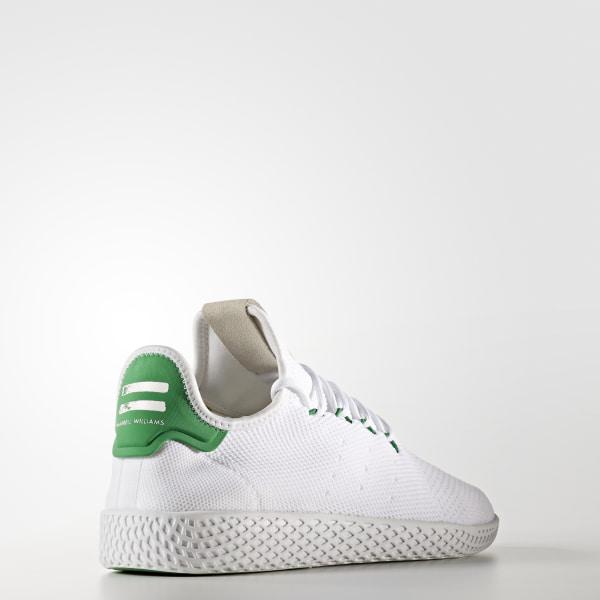 28bb39e63c642 Pharrell Williams Tennis Hu Primeknit Shoes Ftwr White   Ftwr White   Green  BA7828