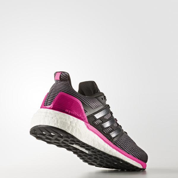 0a7dbb68da717 Supernova Glide 9 Shoes Utility Black   Core Black   Shock Pink BB3483