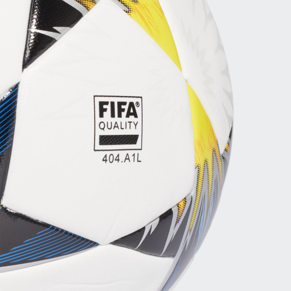 UCL Finale Kiev Training Ball White   Black   Solar Yellow   Blue CF1204 4e21d09b962ce