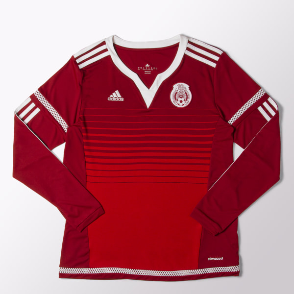 546af5c2350cf Jersey Visitante Mexico Mujer World Cup COLLEGIATE BURGUNDY WHITE POWER RED  S01974