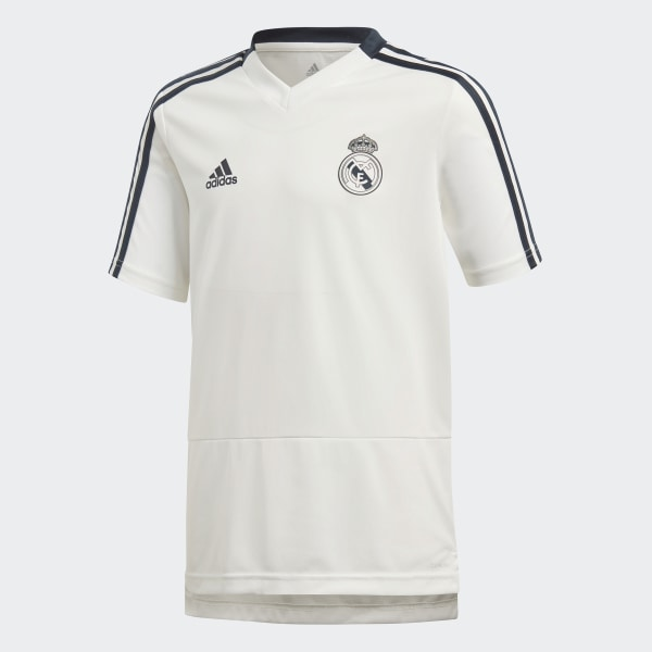 5917aa925b3f8 Camiseta entrenamiento Real Madrid Core White   Tech Onix CW8667