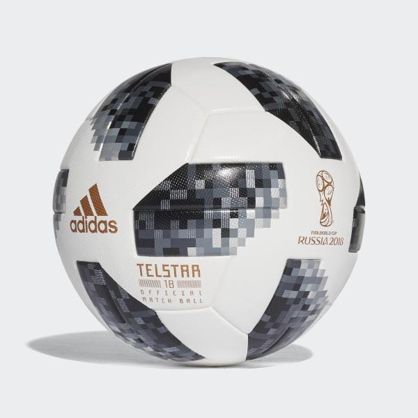 24859652d67cf Balón Oficial Partidos Copa Mundial de la FIFA 2018 WHITE BLACK SILVER MET.