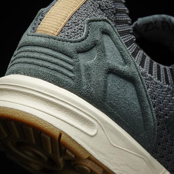 04653592a425b ZX Flux Primeknit Shoes Utility Ivy   Utility Ivy   Gum BA7373