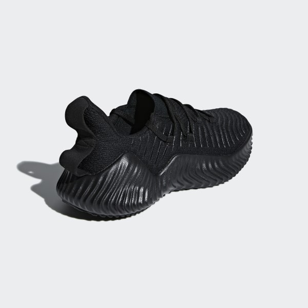33afc3c8c7755 Alphabounce Trainer Shoes Core Black   Core Black   Silver Metallic AQ0609