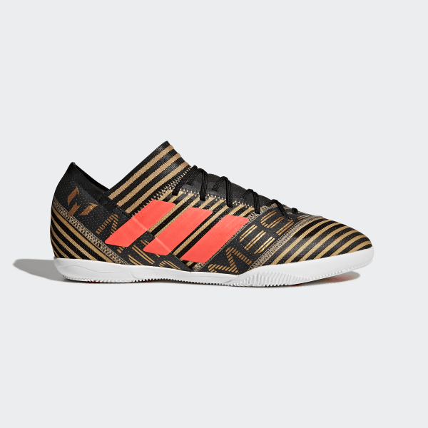 on sale 14277 eb608 Nemeziz Messi Tango 17.3 Indoor Shoes Core Black  Solar Red  Tactile Gold  Metallic CP9105