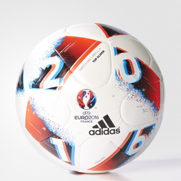 a1d91991f0bfd Pelota Top Glider UEFA EURO 2016 WHITE BRIGHT BLUE SOLAR RED SILVER MET