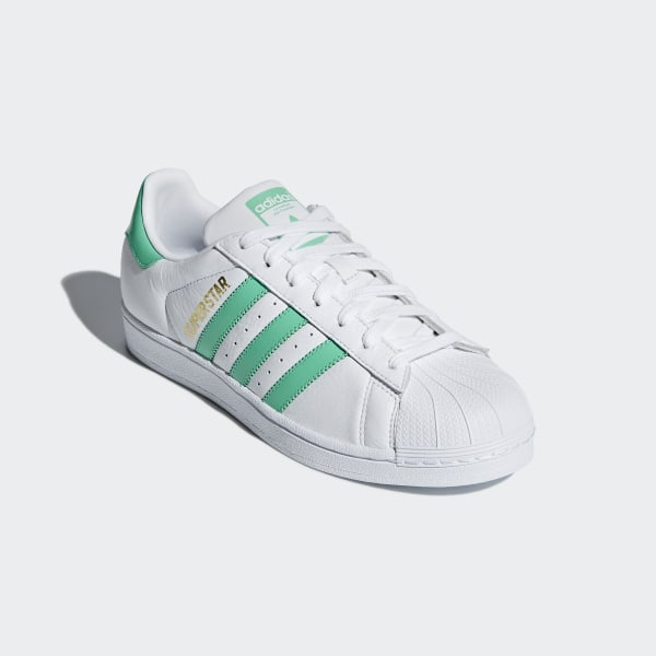 Superstar Shoes Cloud White / Hi-Res Green / Gold Metallic B41995