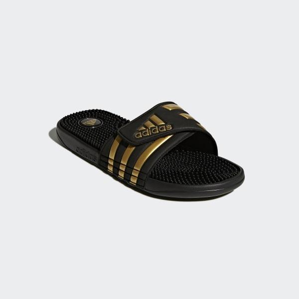 22c58926408 Adissage Slides Core Black   Gold Metallic   Core Black CM7924