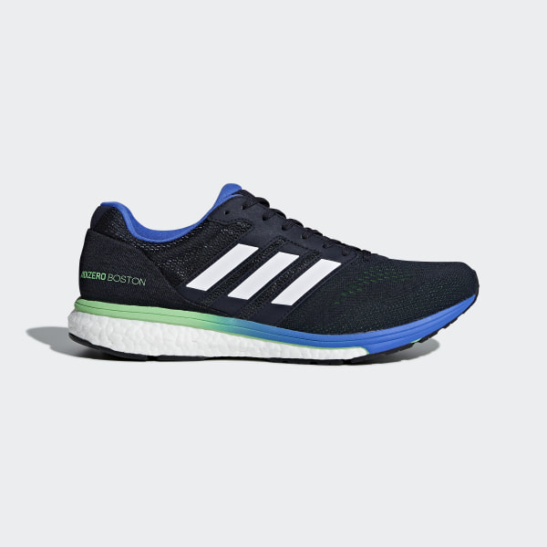 save off bd02d 0f312 Adizero Boston 7 Shoes Legend Ink  Shock Lime  Hi-Res Blue BB6536