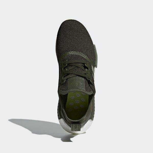 f7213e7ac NMD R1 Shoes Night Cargo   Base Green   Semi Frozen Yellow CQ2414