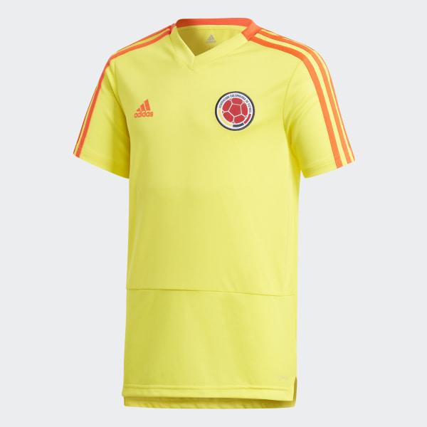 f77e43e5a431c Camiseta de Entrenamiento Selección de Colombia Niño 2018 BRIGHT  YELLOW SOLAR RED CF2018