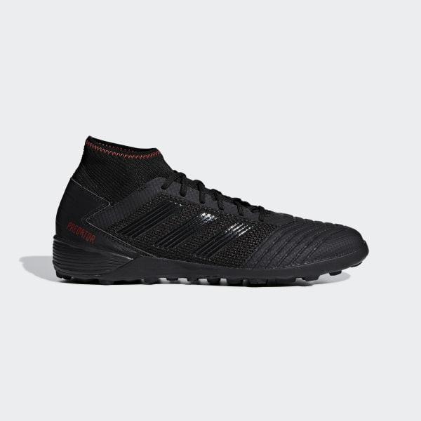 3a4b341024a Predator Tango 19.3 Turf Boots Core Black   Core Black   Active Red D97961