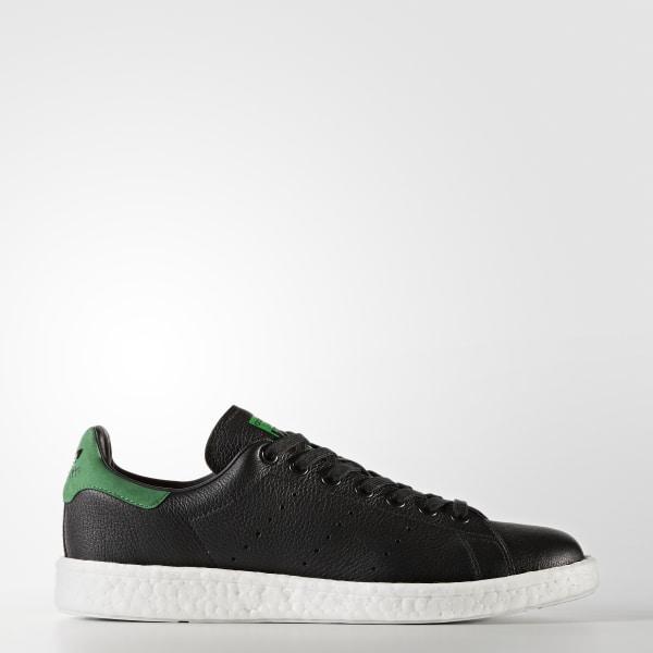best service 87f21 16bdc Stan Smith Boost Shoes Core Black   Core Black   Green BZ0527