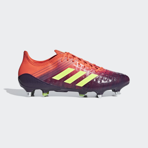 timeless design bd4aa ccaed Bota de rugby Predator Malice Control césped natural húmedo Orange  Shock  Red  True Orange