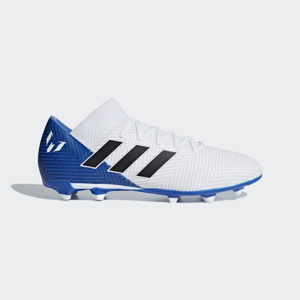 Bota de fútbol Nemeziz Messi 18.3 césped natural seco Ftwr White   Core  Black   Football faf7910840d1b