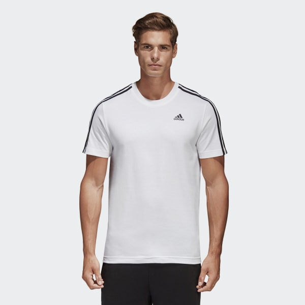 7222b2b32d587 Camiseta Essentials 3-Stripes - Branco adidas
