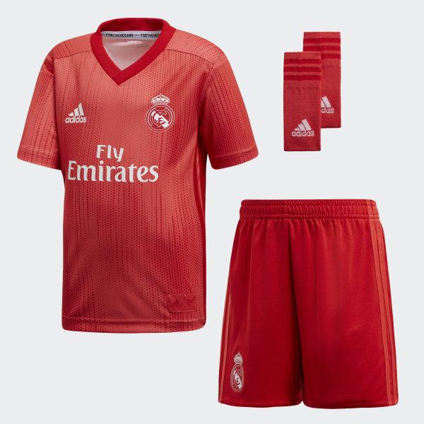 3b374b4f52709 Real Madrid Third Mini Kit Real Coral   Vivid Red DP5447