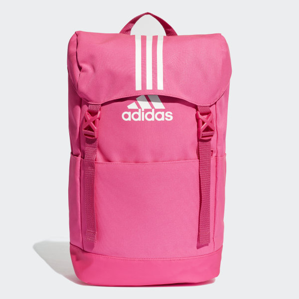 3-Stripes Backpack shock pink   white   white DM7792 5ea1d4eaadff2