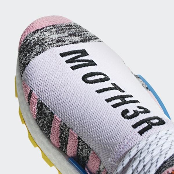 3200d9529 Pharrell Williams SOLARHU NMD Shoes Light Pink   Core Black   Bright Blue  BB9531