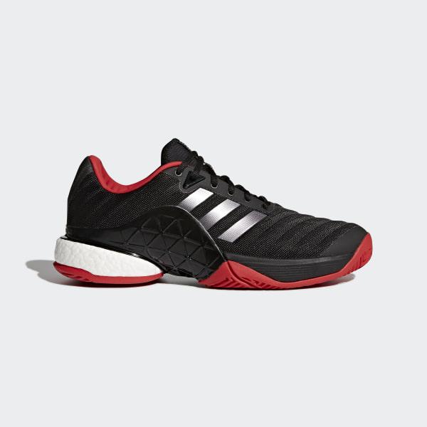 1cd9b14a0c9c8 Chaussure Barricade 2018 Boost Core Black Night Metallic Scarlet CM7829