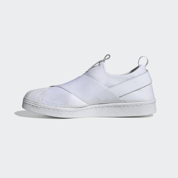 9cfc3503a76 Superstar Slip-on Shoes Cloud White   Cloud White   Core Black S81338
