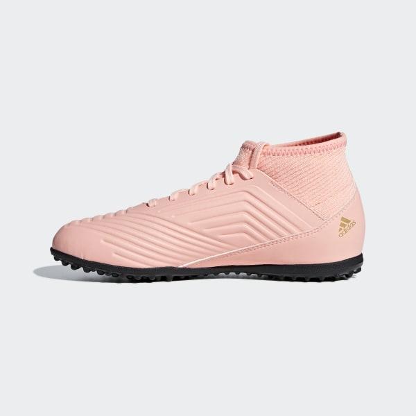 reputable site e87a3 4e2bd Predator Tango 18.3 Turf Shoes Clear Orange  Core Black  Trace Pink DB2331