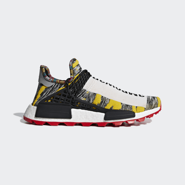 5e153b79f Pharrell Williams SOLARHU NMD Shoes Multicolor   Core Black   Red BB9527