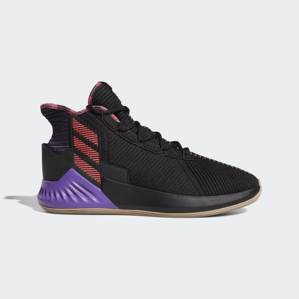 8b7fed4a035a D Rose 9 Shoes Core Black   Shock Red   Legend Purple F99885