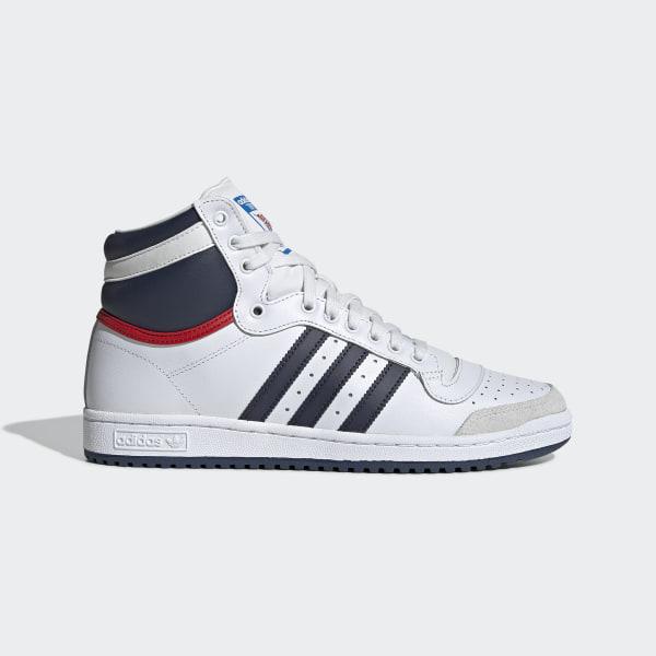 c8df85546def4e Top Ten Hi Schuh White   Onyx   Collegiate Red D65161