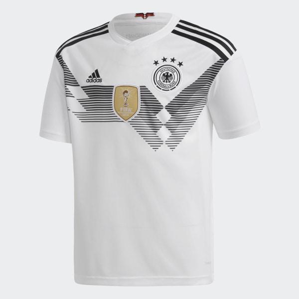 6e4f3ac4e399f Camisa Oficial Alemanha 1 Infantil 2018 WHITE BLACK BQ8460