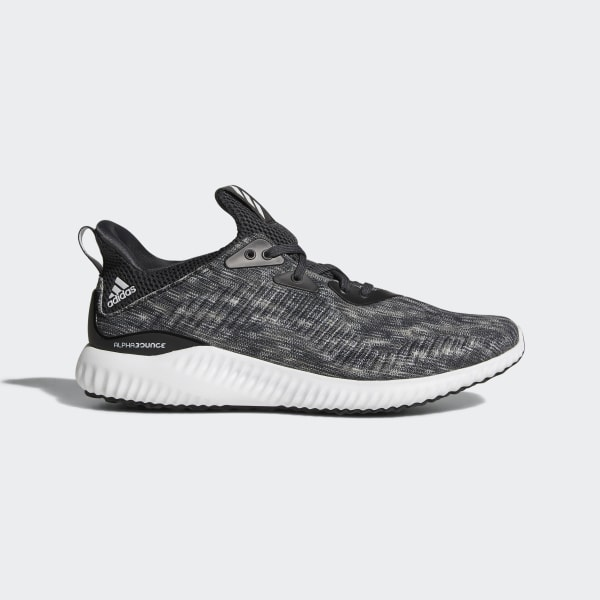 new styles ea1c8 225ea Alphabounce Space Dye Shoes Core Black  Cloud White  Carbon CQ0777