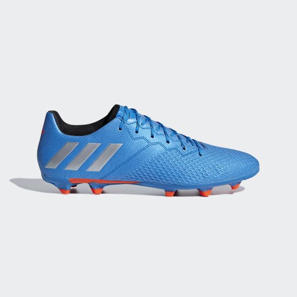 c58552fcf6887 Chuteira Messi 16.3 - Campo SHOCK BLUE MATTE SILVER CORE BLACK S79632