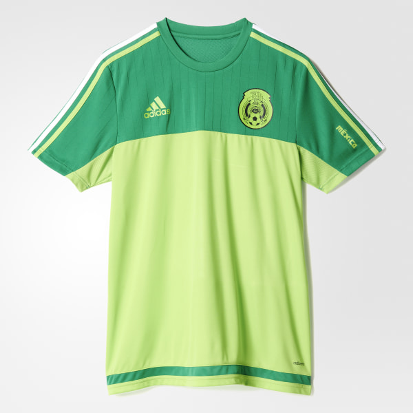 052a007f31300 Mexico Authentic Training Jersey Green   Semi Solar Green S13128