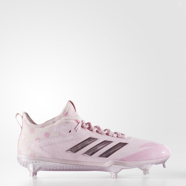differently 5b26d 938d0 adizero Afterburner 4 Cleats Clear Pink  Clear Pink  Light Pink CG4540