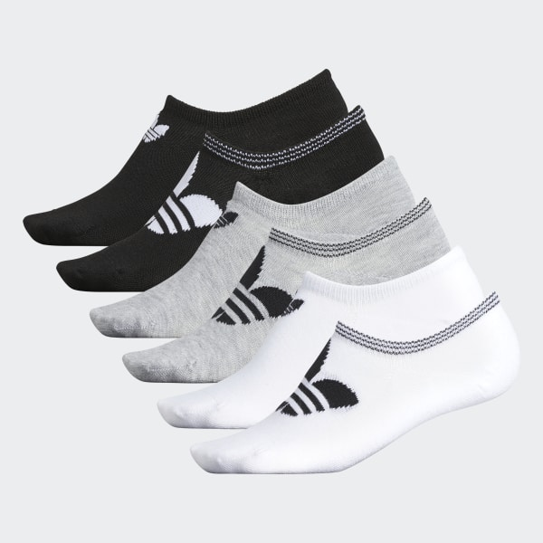 1ea6f9e3d adidas Trefoil No-Show Socks 6 Pairs - White