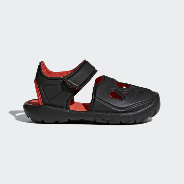 4a80e1c1819d FortaSwim 2.0 Sandals core black   hi-res red s18   core black CQ0089