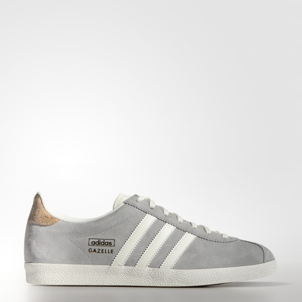 ce81d96b40c Zapatillas Casuales Gazelle OG Mujer MGH SOLID GREY   OFF WHITE   GOLD MET.  M19556