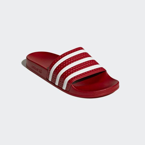 0b083467f1fe adilette Slides Scarlet   White   Scarlet 288193