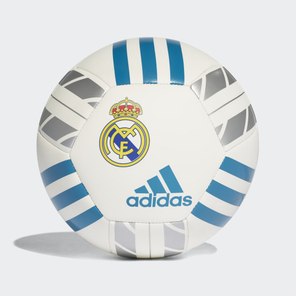 Minipelota Real Madrid WHITE VIVID TEAL S13 SILVER MET. BS0381 9cfe6c6587a59