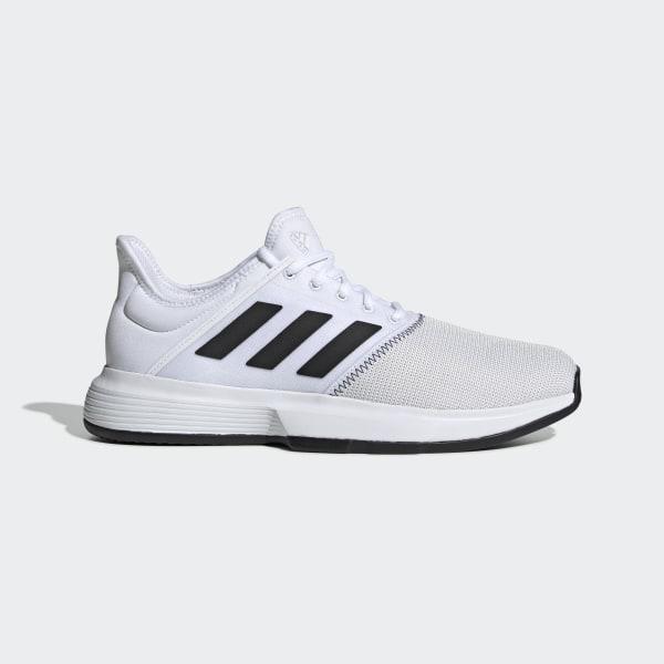 229c01a9869 GameCourt Wide Shoes Cloud White   Core Black   Grey One CG6336