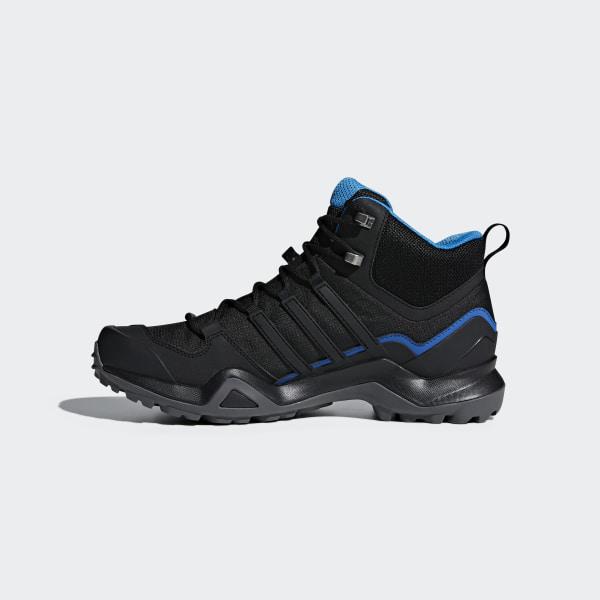 4290d18c351047 Terrex Swift R2 Mid GTX Shoes Core Black   Core Black   Bright Blue AC7771