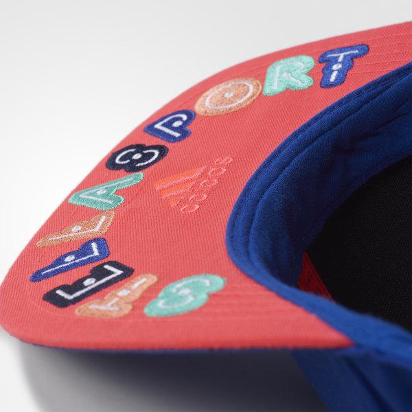 d4749e1b381 adidas STELLASPORT Embroidered Cap Bold Blue Flash Red AX8711