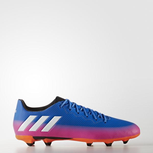 Zapatos de fútbol para césped natural seco Messi 16.3 BLUE FTWR WHITE SOLAR  ORANGE fc79dc026bc95