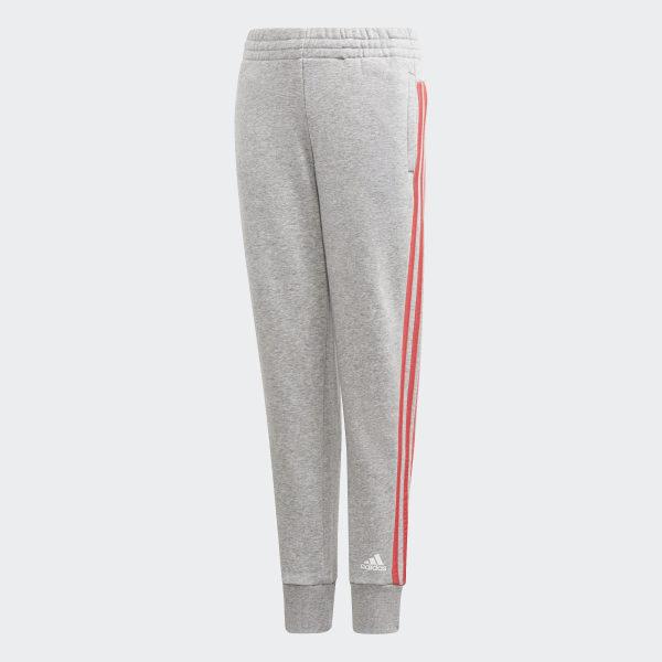 a65bc9389794 Must Haves 3-Stripes Pants Medium Grey Heather   Prism Pink DV0319