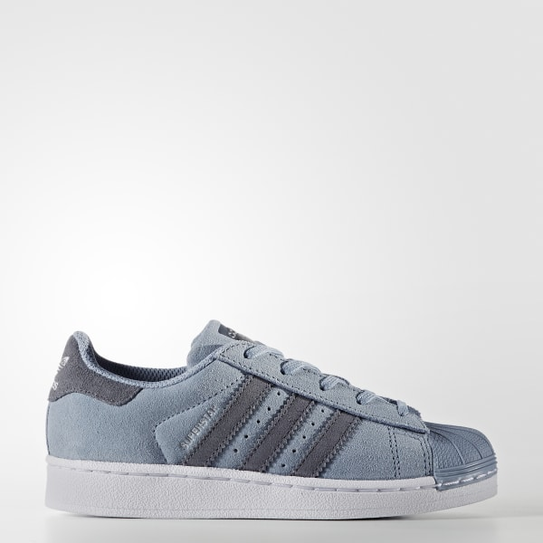 12917452190a9 Superstar Shoes Tactile Blue   Onix   Onix BZ0369