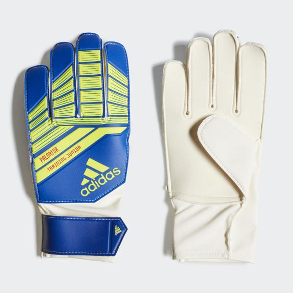 97cd3ec93503 Predator Junior Gloves football blue   bold blue   solar yellow DN8561
