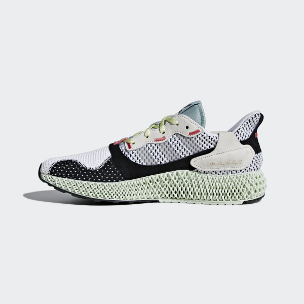 89ad3809d ZX 4000 4D Shoes Ftwr White   Grey Two   Linen Green B42203