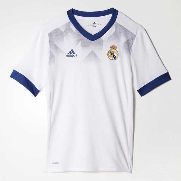 Camiseta calentamiento primera equipación Real Madrid White Raw Purple  BP9172 edc51a868f841