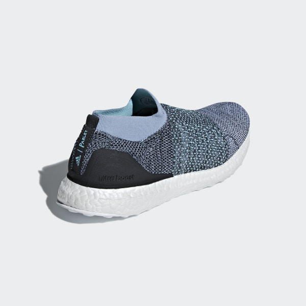 65b28eb316d Ultraboost Laceless Parley Shoes Raw Grey   Carbon   Blue Spirit CM8271